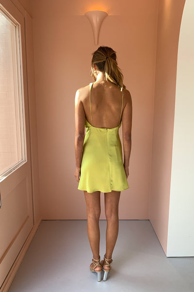 One Fell Swoop Audrey Mini Dress in Citron