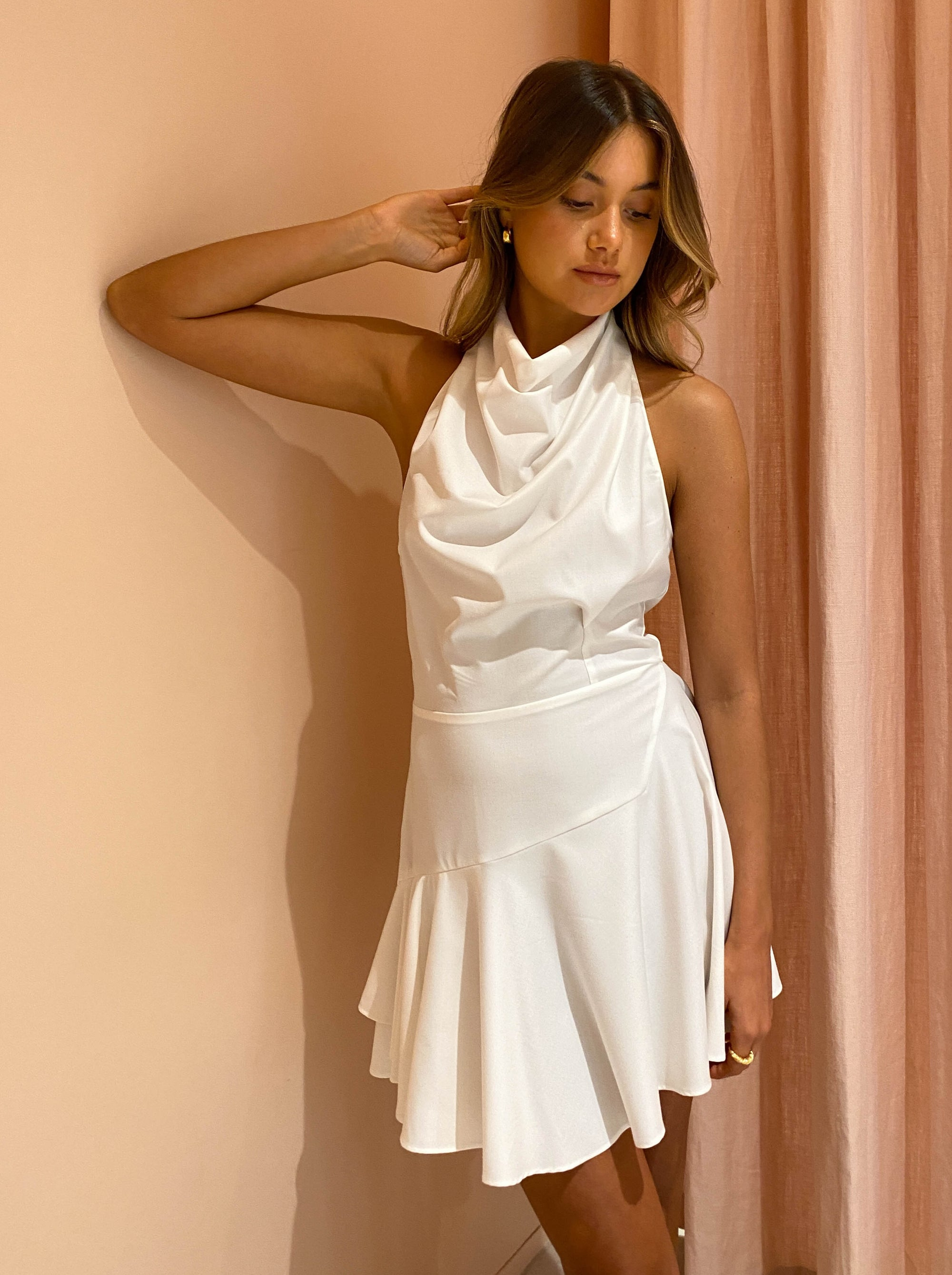 One Fell Swoop Mia Mini Dress in Ivory