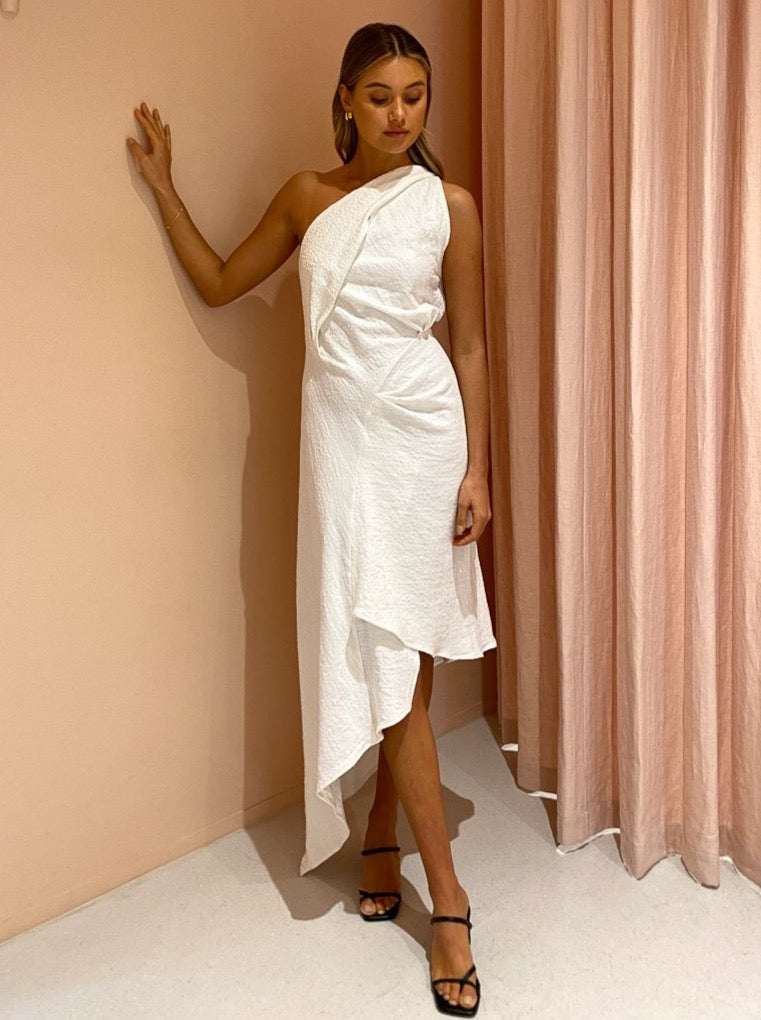 One Fell Swoop Drift Dress in Cloud Cotton