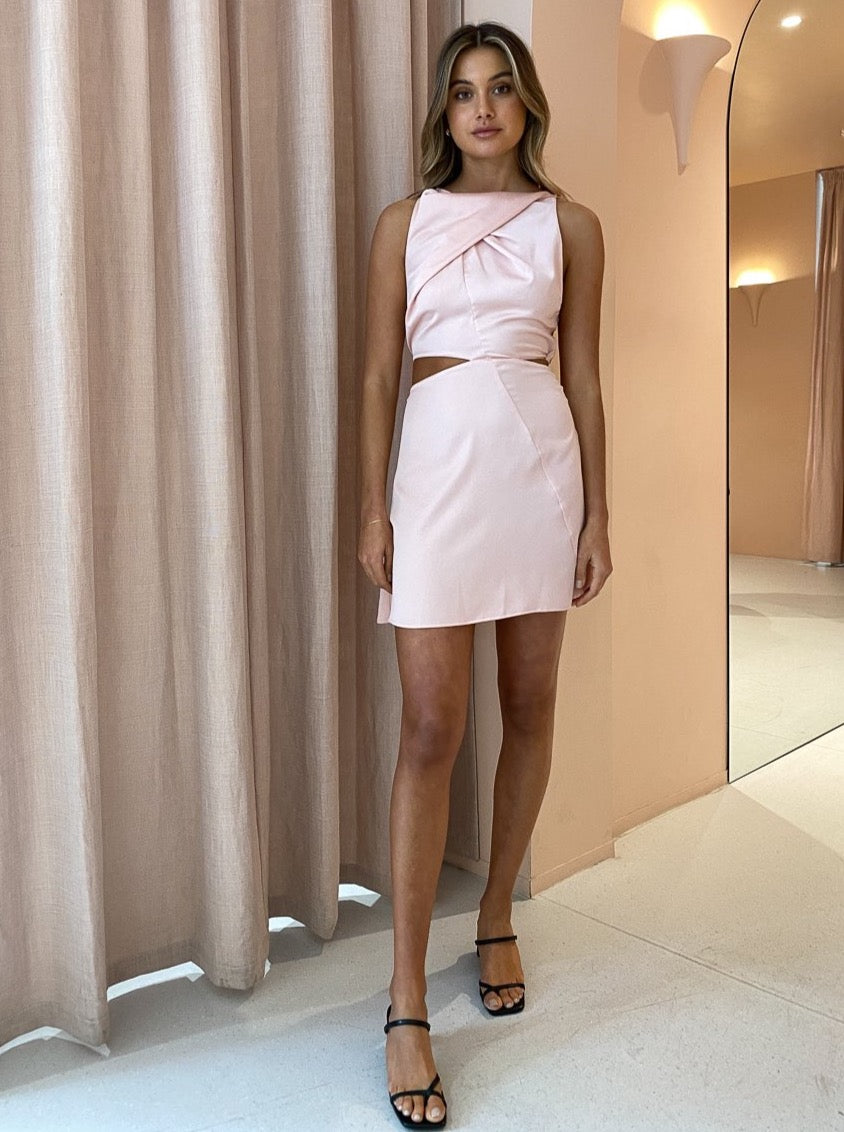 One Fell Swoop Bijou Mini Dress in Sleek Blush