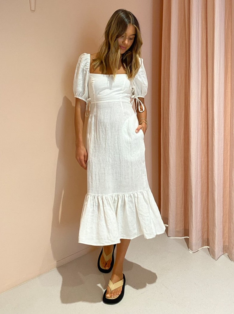 Ownley Gilly Dress in White