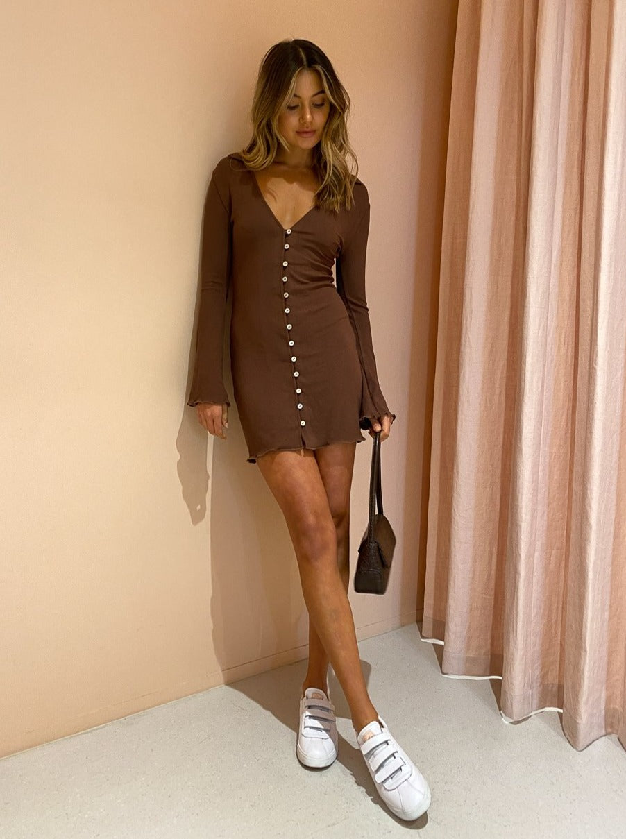 Ownley Kendall Dress In Chocolate