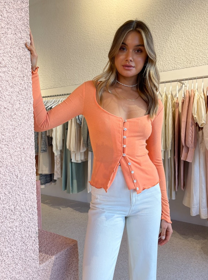 Ownley Luce Top In Peach
