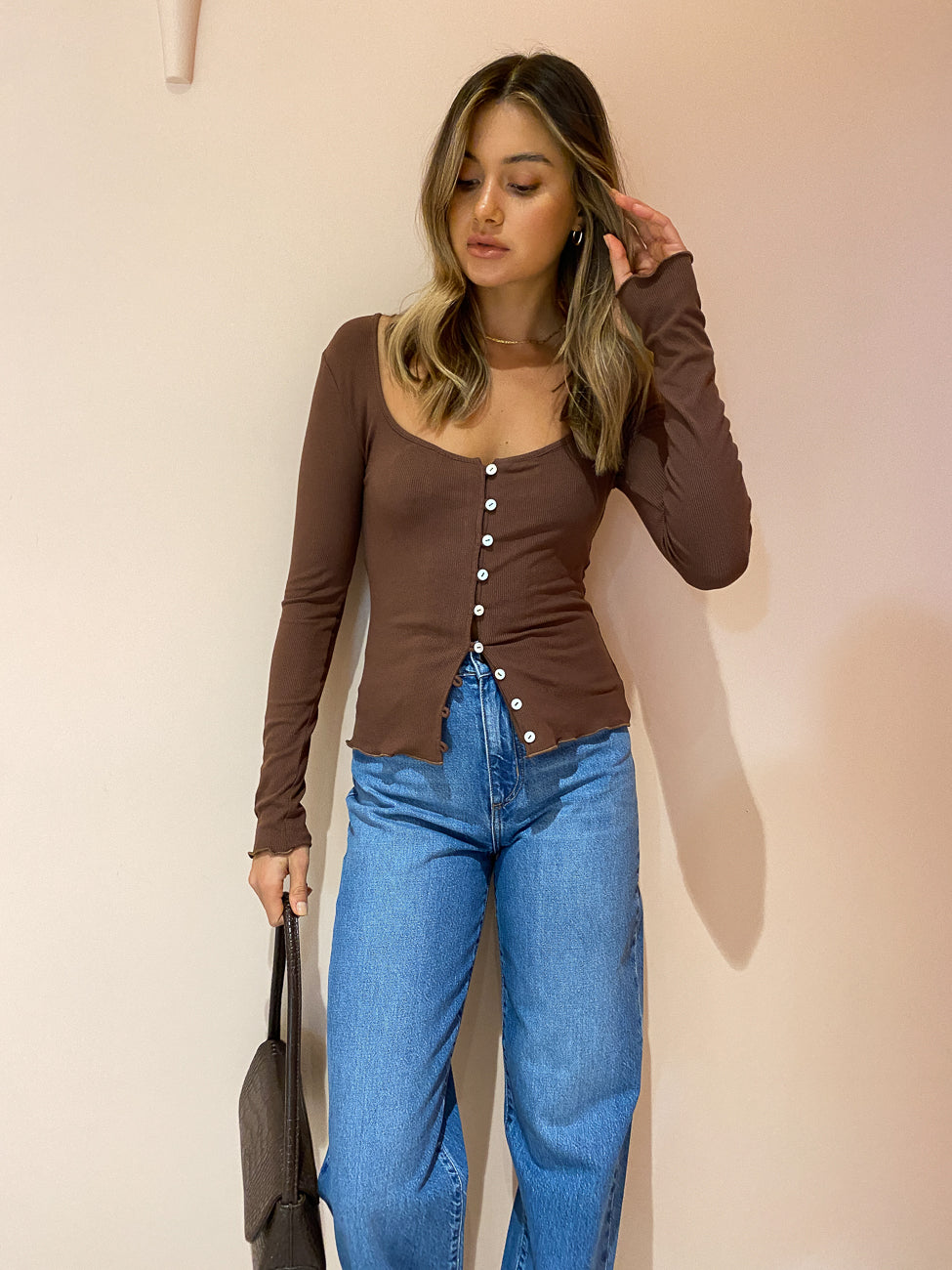 Ownley Luce Top In Chocolate