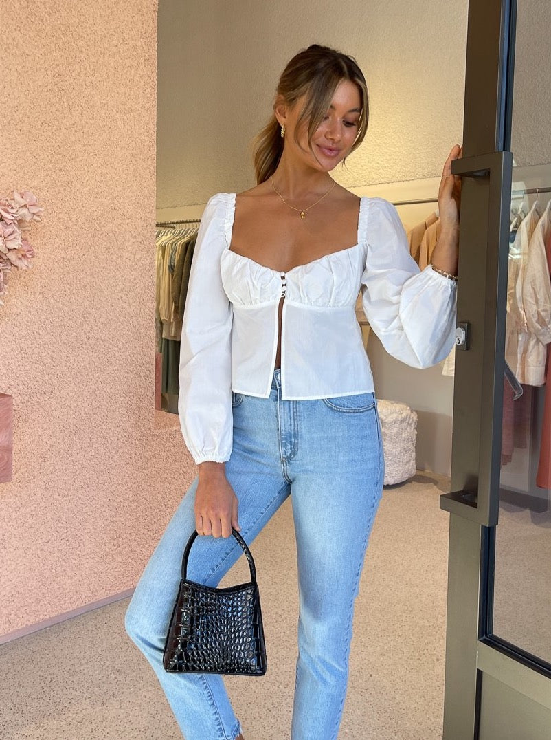 Ownley Riley Top In White