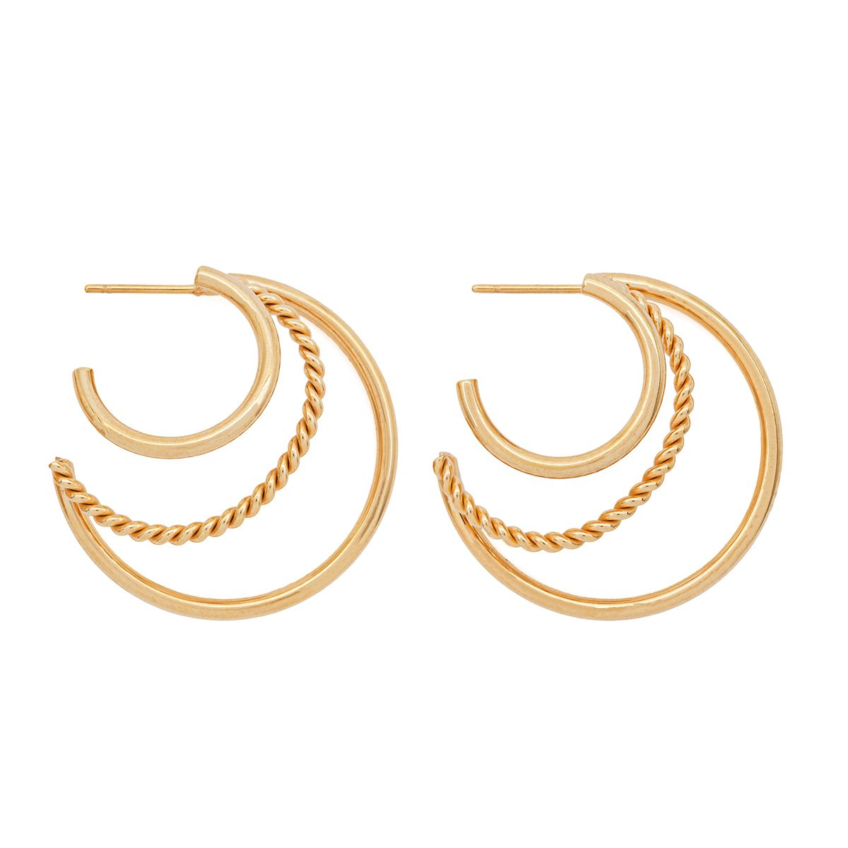 Amber Sceats Pia Earrings in Gold