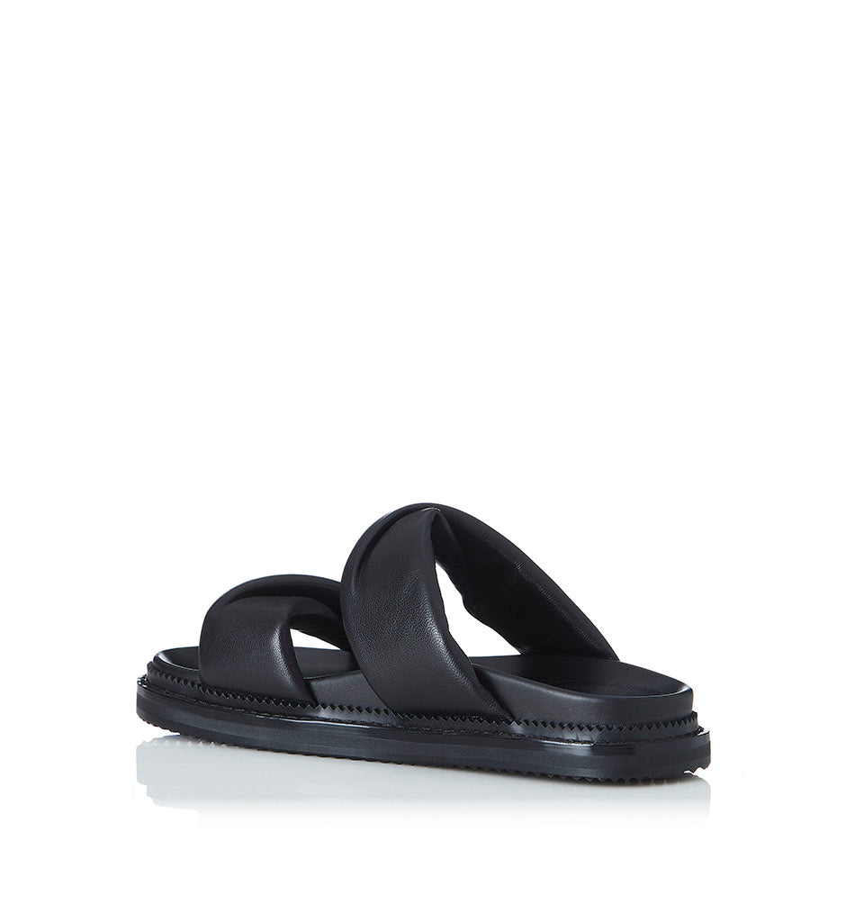 Alias Mae Paris Slide in Black Leather