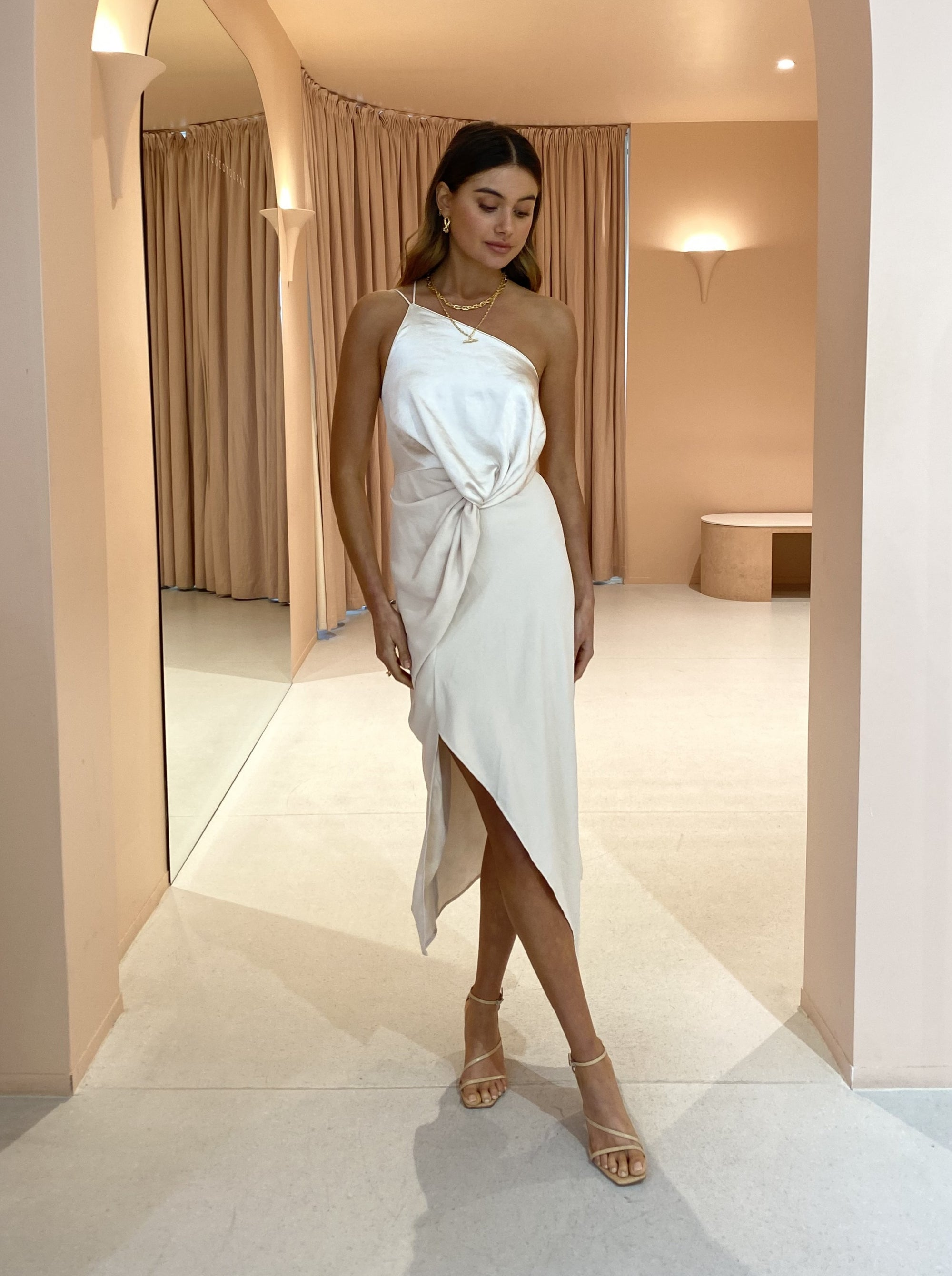One Fell Swoop Besame Dress in Mother of Pearl