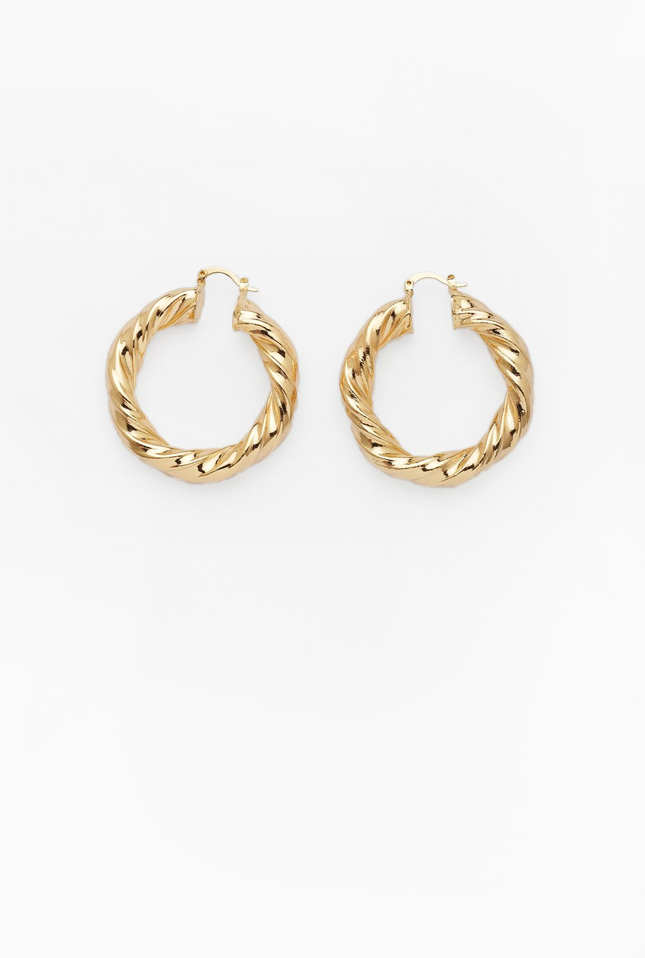 Reliquia Mini Twine Hoops in Gold