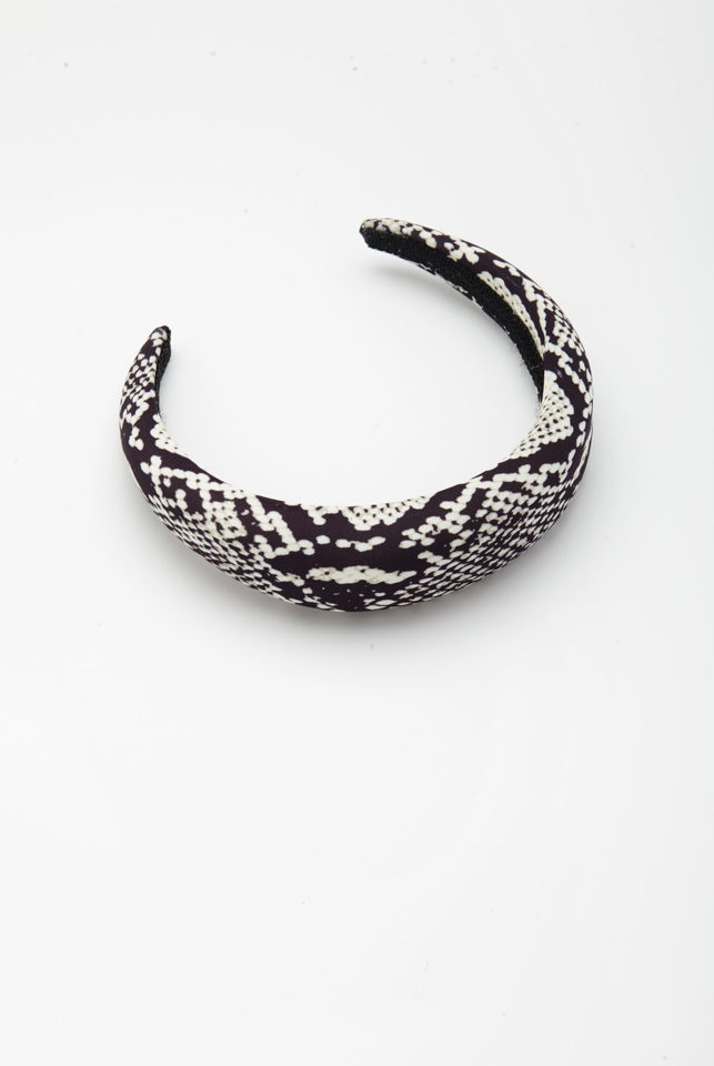 Reliquia Maxine Headband in Black/White