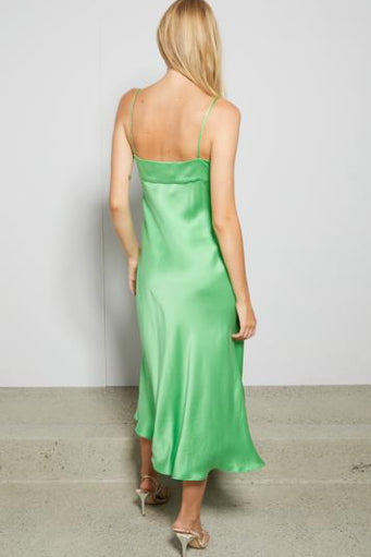 Bec & Bridge Margareta Midi Dress in Sour Apple