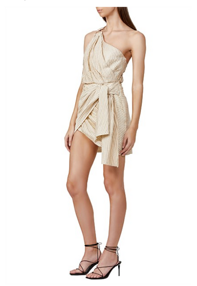 Significant Other Rockaway Dress in Cream Check