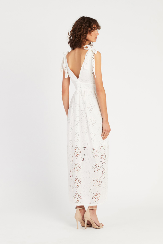 SIR Celeste Button Down Maxi Dress in Ivory