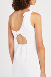 SIR Charlee One Shoulder Mini Dress in Ivory