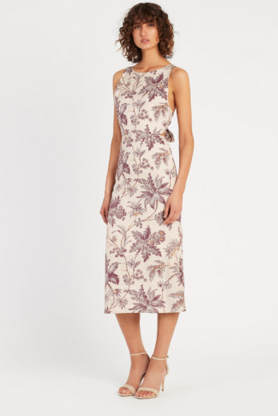 SIR Avery Tie Back Midi Dress in Print