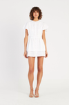 SIR Charlee Ruffle Mini Dress in Ivory