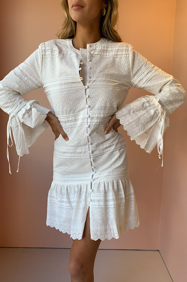 SIR Dilone Shirt Dress in Ivory