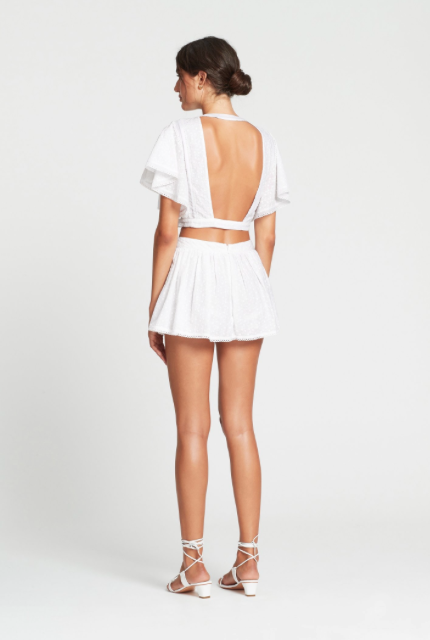 SIR Charlee Open Back Top in Ivory