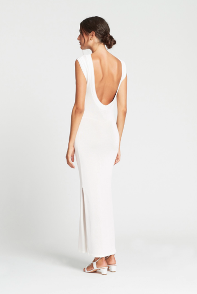SIR Suvi Low Back Dress in Ivory