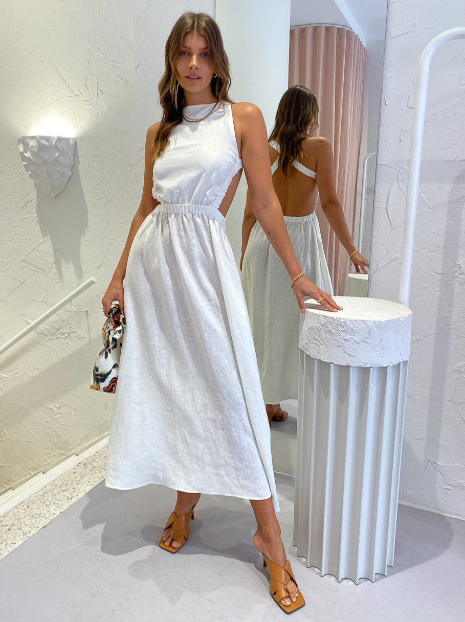 SIR Alena Maxi Dress in Ivory