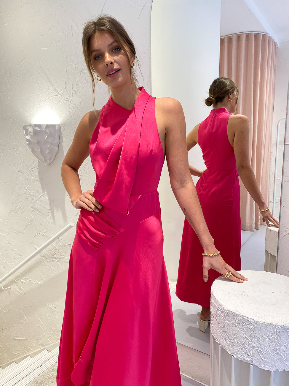 Acler Palmera Dress in Fuchsia