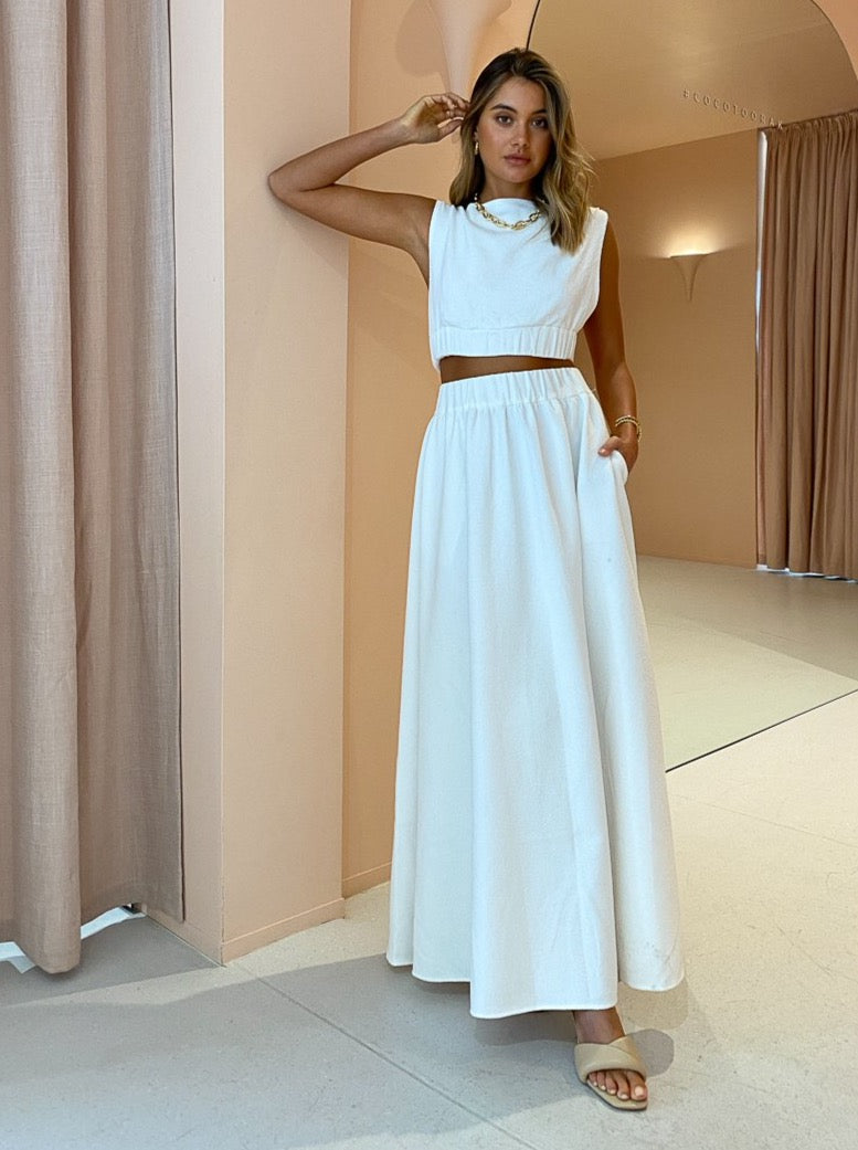 SIR Yves Maxi Skirt in Ivory