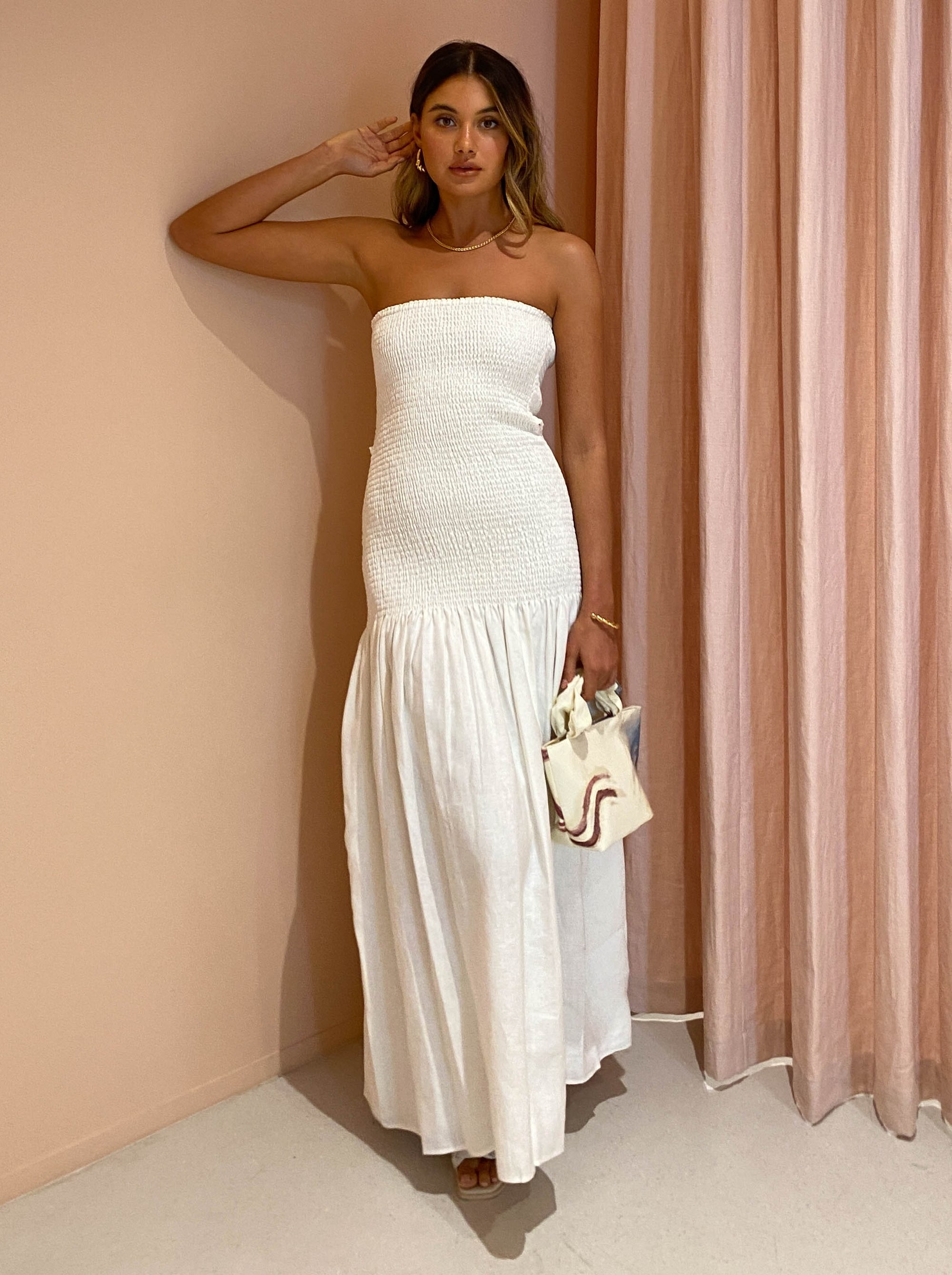 SIR Madelyn Strapless Dress in Ivory