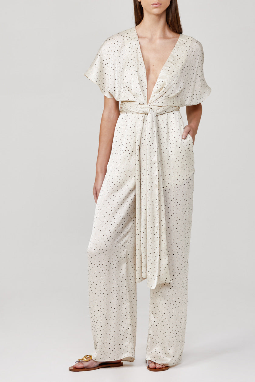Significant Other Aphelion Jumpsuit in Cream Polka