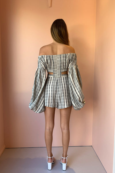 Significant Other Nighttide Romper in Natural Stripe