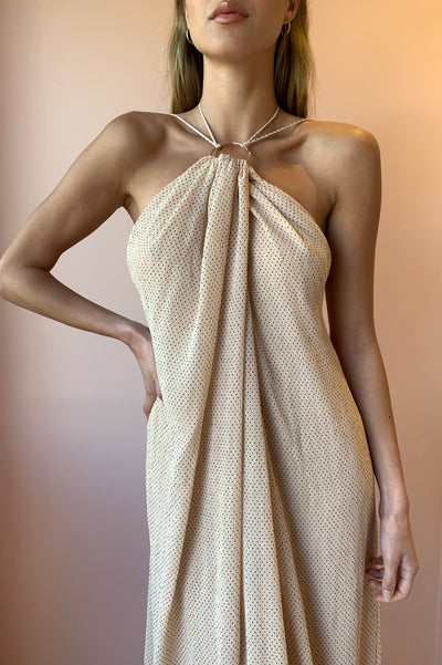 Significant Other Alpha Dress in Nude Polka