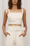 Steele Parker Crop in Blanc