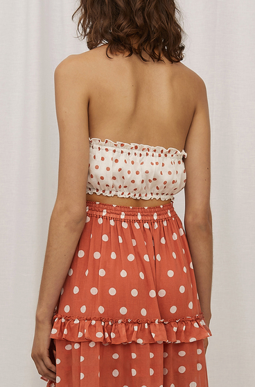 Steele Frenchi Crop in Blanc Polka