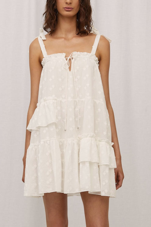 Steele Veneto Dress in Blanc