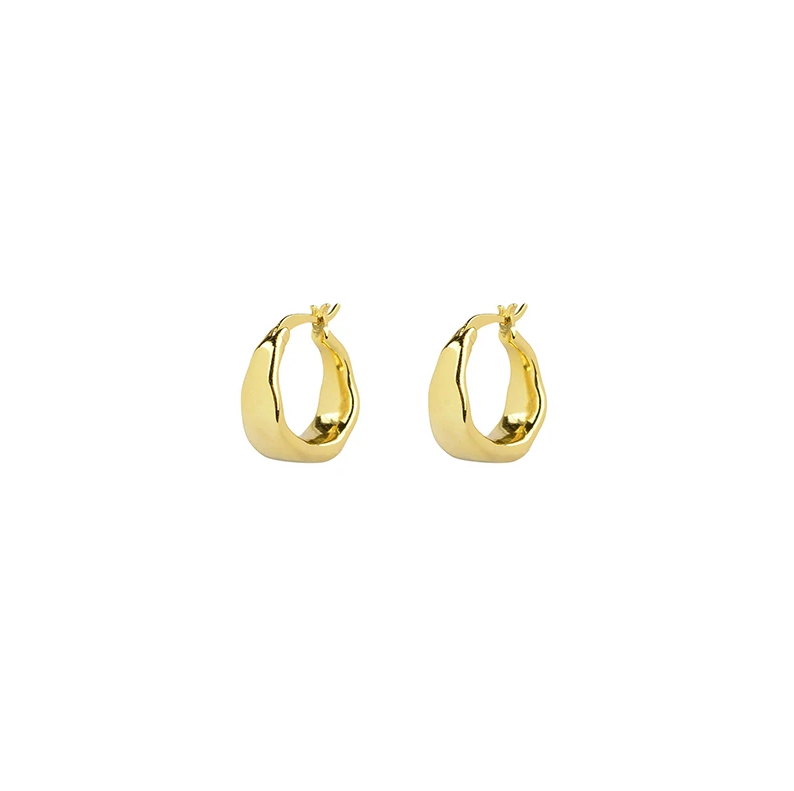 Brie Leon Organica Curved Earrings in Gold