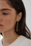 Brie Leon Link Chain Drop Studs in Gold