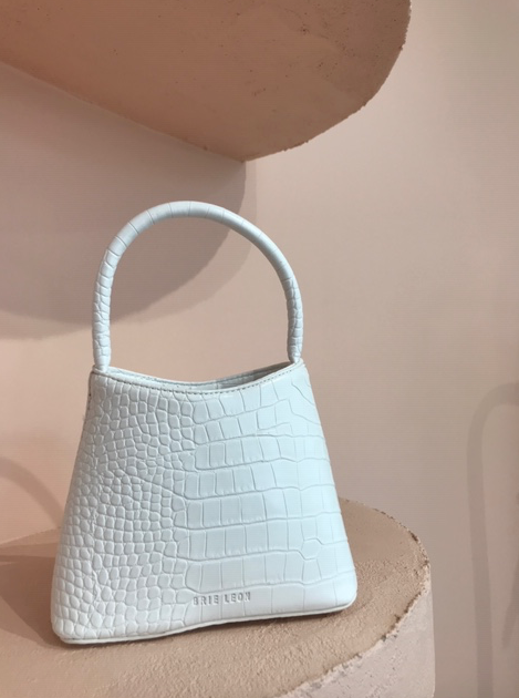 Brie Leon The Mini Chloe in White Matte Croc
