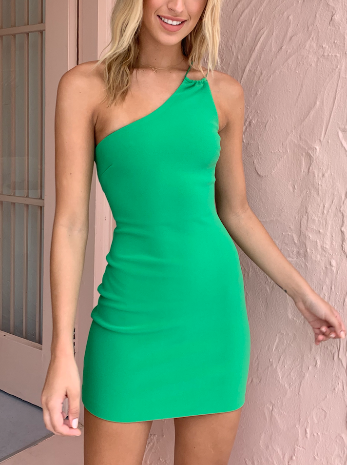 Bec & Bridge Emerald Ave Mini Dress in Emerald
