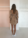 Faithfull the Brand Ira Mini Dress in Animal Print