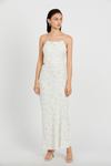 Third Form Wild Flowers Bias Maxi Dress in Daisy