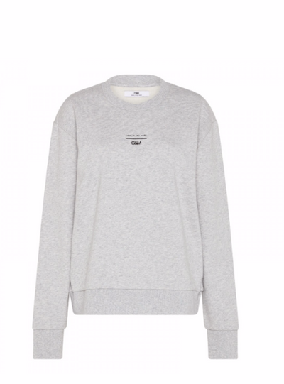 Camilla and Marc Dunning Crew Jumper in Grey Marle