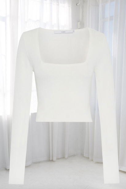 By Johnny Clare Crop Sleeve Top in White