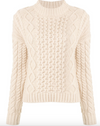SIR Ava Cable Sweater in Bone