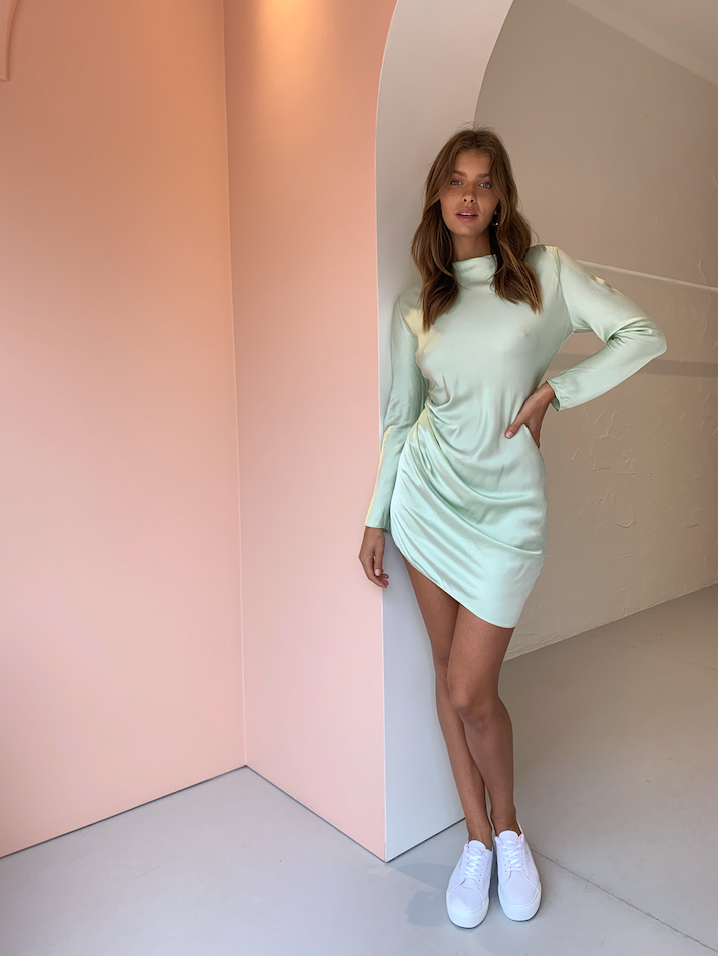 Carver Anabele L/S Dress in Mint