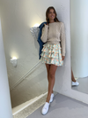 By Nicola Golden Hour Mini Skirt in Pistachio Daisy