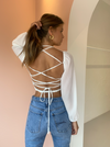 SIR Indre Laced Top in White