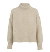 Ena Pelly Turtle Neck Cropped Knit in Oatmeal