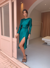 Carver Anabele Midi Dress in Emerald