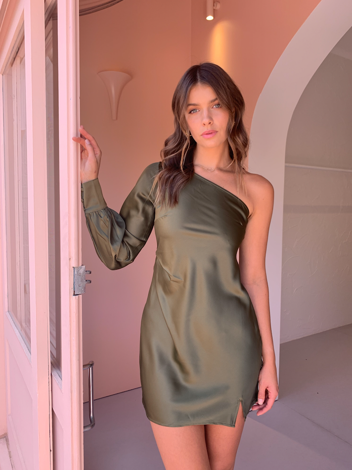 By Nicola Eternal Dress in Khaki
