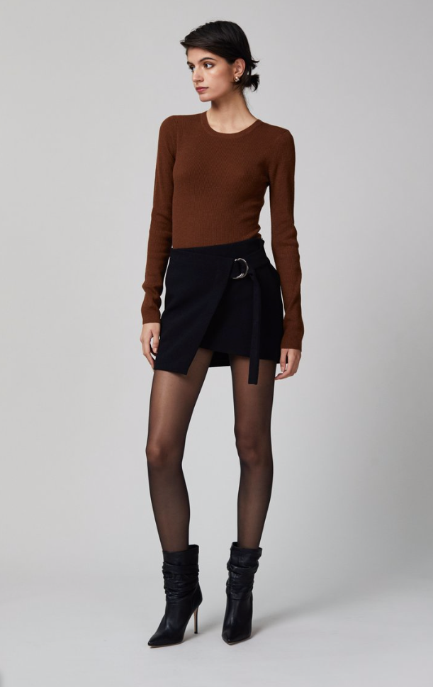 Bec & Bridge Freya Crew Neck Knit Top in Copper