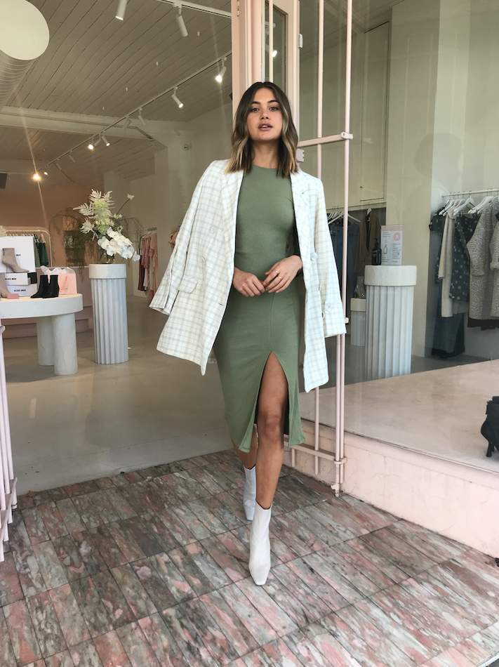 By Nicola Cerelia Midi Dress in Sage